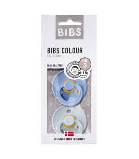 BIBS - FOPSPEEN NATUURRUBBER - BLISTER SKY blauw/BABY blauw T3
