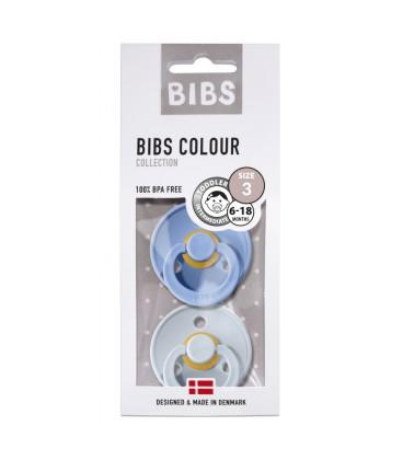 BIBS - FOPSPEEN NATUURRUBBER - T3 sky blauw / baby blauw