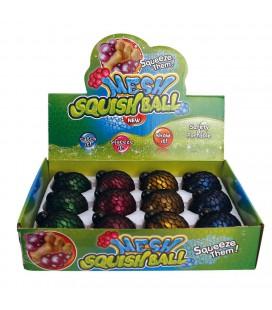 SQUISHY BAL 6 CM 4 ASSORTI