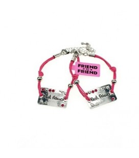 Best Friend Plaat armband roze