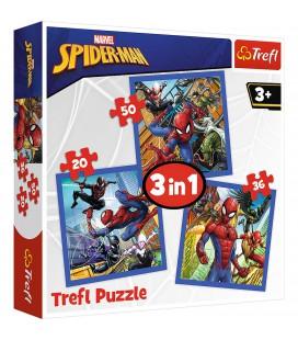 PUZZEL 3 IN 1 SPIDERMAN