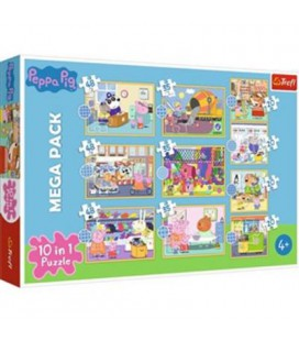 PUZZEL 10 IN 1 PEPPA PIG