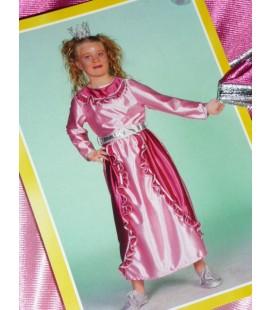 Roze prinses jurk met ruches