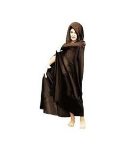Hooded cape zwarte halloween cape