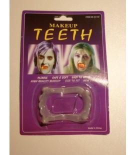 Dracula tanden doorzichtig