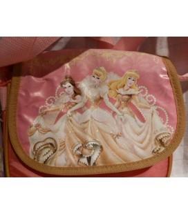 Roze tas met 3 gouden prinsessen
