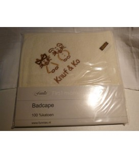 Badcape knuf & co bruin