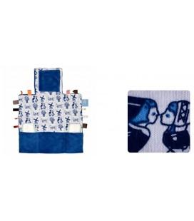 Snoozebaby - Luier verwissel kleedje - delfts blauw
