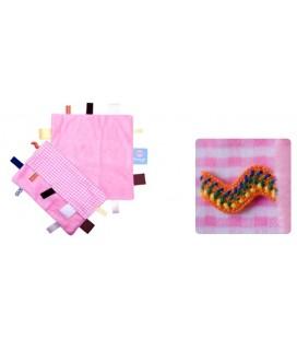 Snoozebaby - Label doekje roze