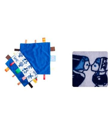 Snoozebaby - Label doekje delftsblauw
