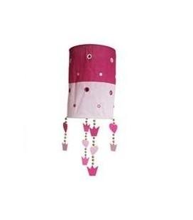 Hanglamp kroontjes - Roze /lichtroze