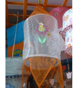 Wit/ Oranje transparante lamp