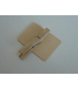 Houten knijperbordje vierkant