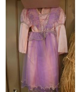Prinsessenjurk roze/ paars