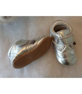 Zilver meisjes dicht babyslofje - Melton