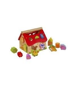 Houten insteekbox sorteerder dieren
