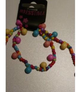 Ketting - armband vrolijke kralen en bolletjes
