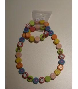 Ketting - armband pastel kleuren