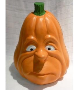 deco- halloween hoofd oranje