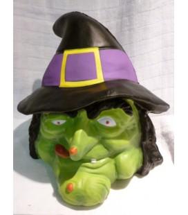 deco - halloween hoofd heks