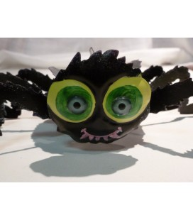 deco - halloween metalen spin met grote ogen