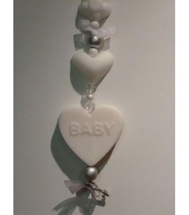 zeepketting baby hartje