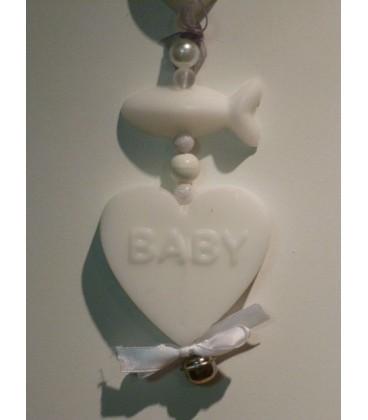 zeepketting baby hart en visje
