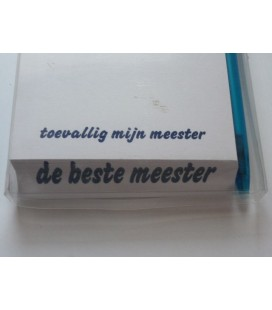 Blocnote voor de beste meester