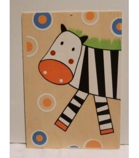 Houten kaart - Zebra