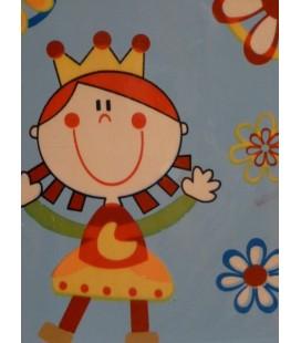 Houten kaart - Bloemenprinsesje