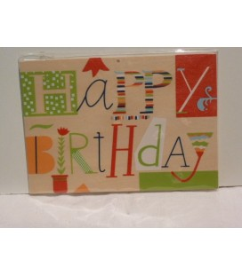 Houten kaart - Happy Birthday