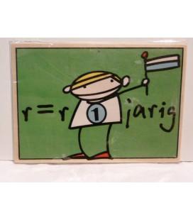 Houten kaart- R-is- R 1 jarig