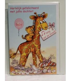 Kaart met girafje
