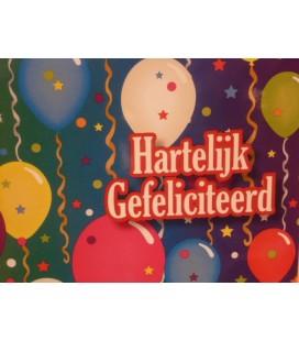 Kaart met ballonnen en linten