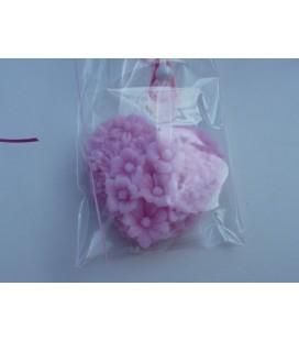 Zonnebloem/madeliefjes hart aan ketting