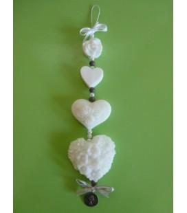 Zeepketting roosjes & 3 hartjes