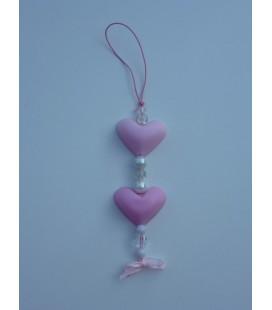 2 bolle hartjes aan ketting