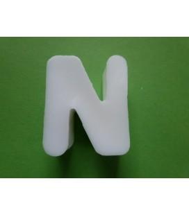 Zeepletter alfabet N