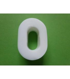 Zeepletter alfabet O