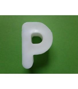 Zeepletter alfabet P