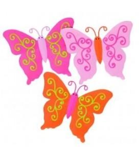 Plakfiguur vlinder metaal
