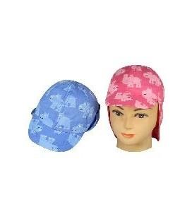 baby cap / zon bandana bl./roze