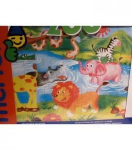 houten puzzel wilde dieren / jungle