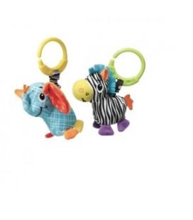 Zebra - olifant | jittery pals mini mobiel