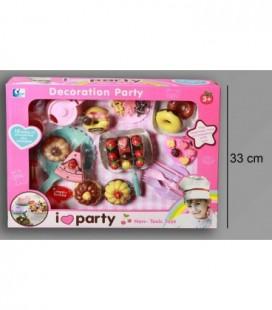 Decoratie party set in doos