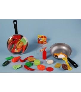 Koekepan met eten - kook speelset