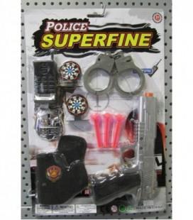 Politie speelset op kaart