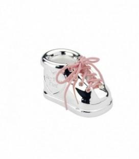 Spaarpot schoen met kleur veter
