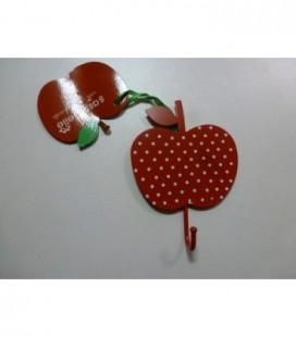 Kapstok rood/witte appel metaal
