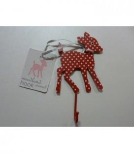 Kapstok hert bambi rood/ wit metaal